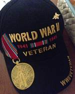WWII veteran hat and medal.